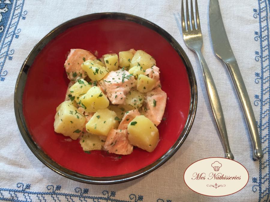Saumon et pommes de terre à la crème au cookéo