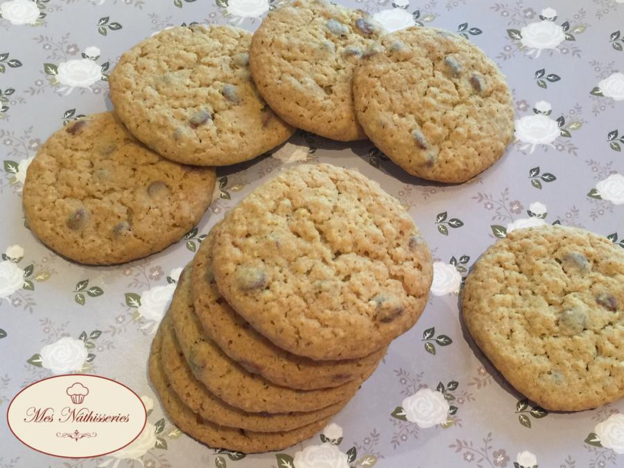 Cookies pistache - chocolat au lait