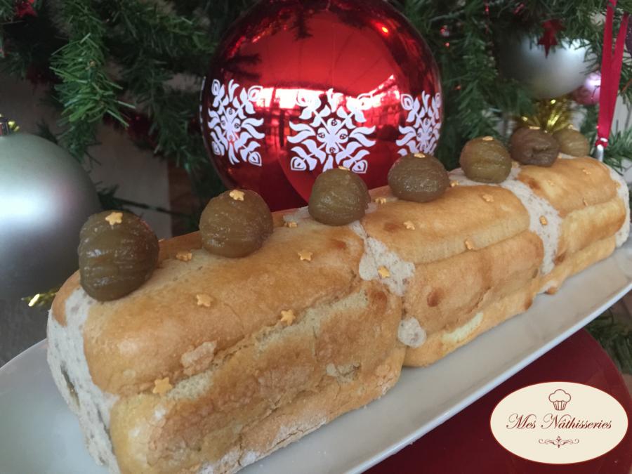 Bûche de Noël légère aux marrons