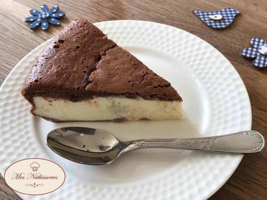 Gâteau au chocolat coeur fromage blanc